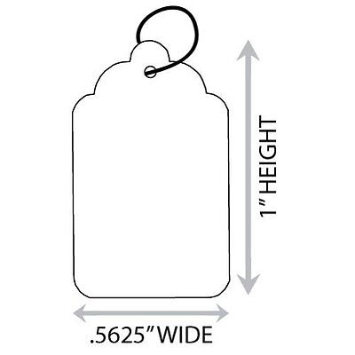 "1000 String / Price Tags - Size #1  9/16"" x 15/16""  White"