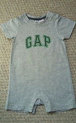 Baby Gap Cute Babygro Romper Suit For Baby Boy Age 6- 12 Months Grey