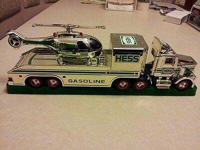 Hess* 1995* Chrome* Truck* And* Helicopter* Rare*  Ultra* Mint*