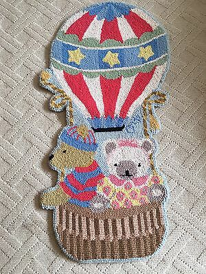 Claire Murray Teddy Bear Balloon hooked rug