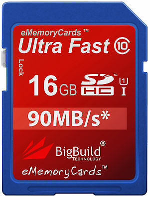 16GB Memory card for Hitachi HDC1495E Camera | Class 10 80MB/s SD SDHC New UK