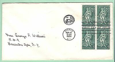 mjstampshobby 1958 US FDC  Cornell University Used (Lot2389L)