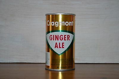 1970's straight steel Cragmont Ginger Ale soda can bottom open