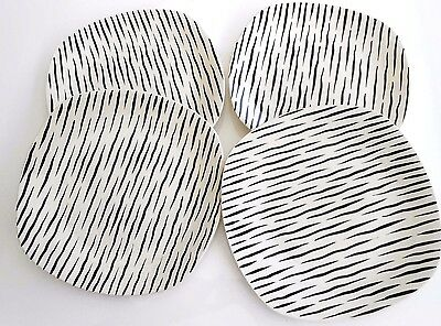 "Midwinter 'Zambesi' - Lge Dinner Plates x 4- rare - excellent - (10"" - 26 cm)"