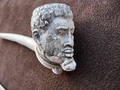 Old Clay Pipe With Bowl In The Shape Of A Man's Head