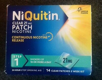 NiQuitin 24 Hour Clear Patches - 21 MG 14 Patches (Step 1 )