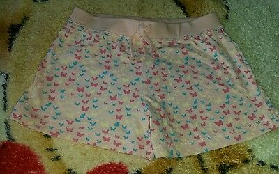 girls pink butterfly shorts 5-6 years good condition