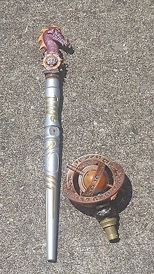 Magiquest Wand - Silver and Gold - 2 Toppers!!
