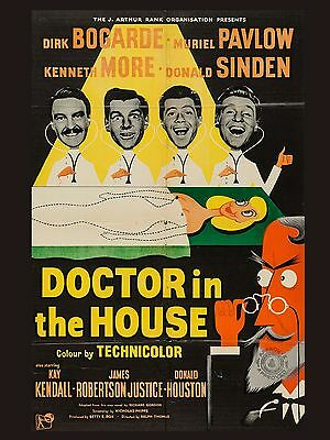 "Doctor in the House 16"" x 12"" Reproduction Movie Poster Photograph"
