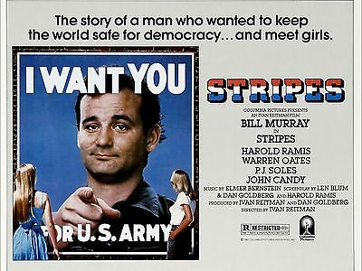 """Stripes 16"""" x 12"""" Reproduction Movie Poster Photograph"""