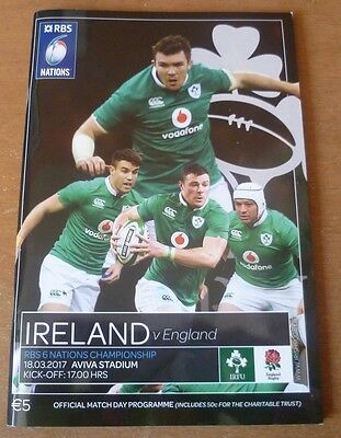 2017 - Ireland v England, Six Nations Match Programme.