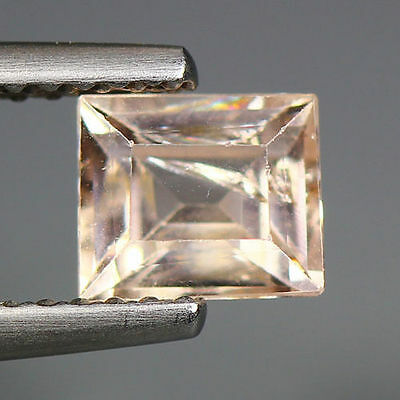 0.86 Cts_Simmering Ultra Nice Color_100 % Natural Peach Pink Morganite_Brazil