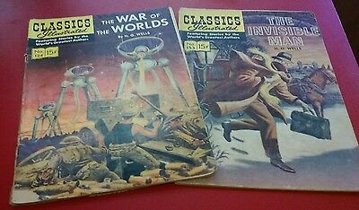 Classics Illustrated H.G. Wells War Of The Worlds The Invisible Man