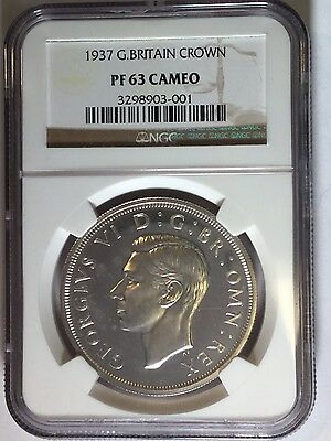 1937 George Vi British Proof Cameo Crown -Ngc Pf-63