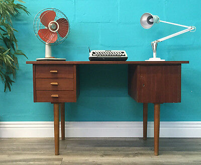 Very Stylish Retro Mid Century Vintage Danish Teak Desk