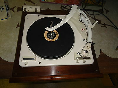 Garrard 210 Turntable  Record Player  With  Plinth & Lrs 4  Record  Stacker