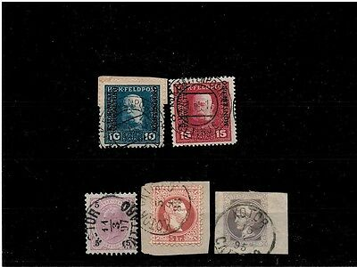 Montenegro 1883-1917, stamps lot with cancel Kotor and Cetinje, Used