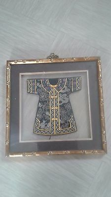 vintage framed miniature Chinese or Japanese costume example
