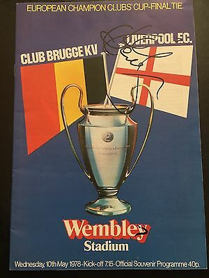 1978 European Cup Final Liverpool V Club Brugge Signed By Kenny Dalglish Program
