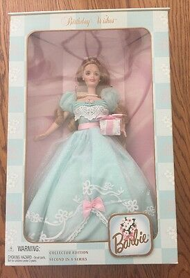 Barbie BIRTHDAY WISHES 2nd Collector Edition Blue Dress #24667 1999