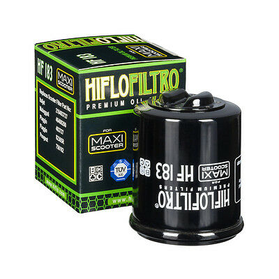 Piaggio X8 150 / 200 / 250 (2005 to 2008) Hiflofiltro Premium Oil Filter (HF183)