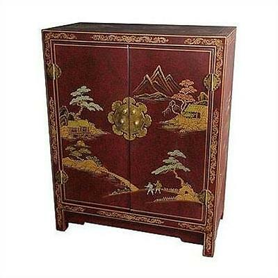 Japanese Crackle Lacquer Cabinet Oriental Furniture FREE SHIPPING (BRAND NEW)