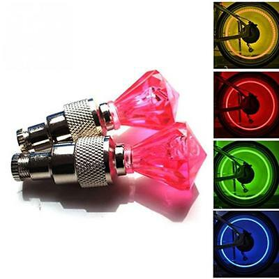 LED Neon Valve Dust Cap Light Car Motorcycle Bicycle Wheel Tyre Lamp Up ON SALE