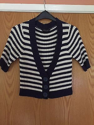 ladies short sleeve cardigan Size 14