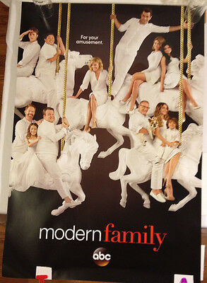 Modern Family Promotional Poster ABC Television 27 x 40  excellent