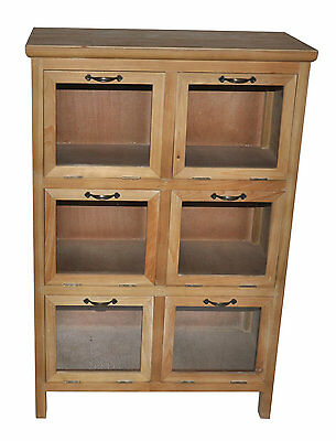 Wood Storage Cabinet with Glass Doors Cheungs FREE SHIPPING (BRAND NEW)