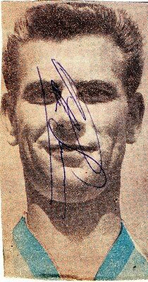 PETER SWAN 1950s SIGNED SHEFFIELD WEDNESDAY PICTURE