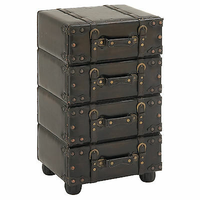 Hamilton Wood and Leather Side Chest Urban Designs FREE SHIPPING (BRAND NEW)