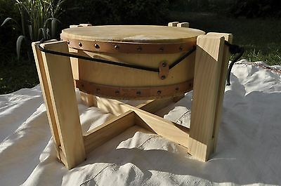 19' Pow wow drum, Ceremonial Drum, Double Headed Drum, with Stand