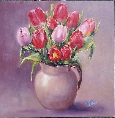 'Tulips in a Jug' Original oil painting by Tanya Holder / Floral Still life