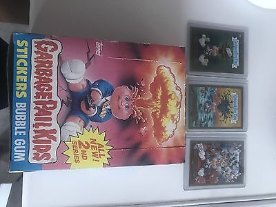 Garbage Pail Kids Series 2 New Box Unopened Packs Inside Full Box Adam Bomb Gold