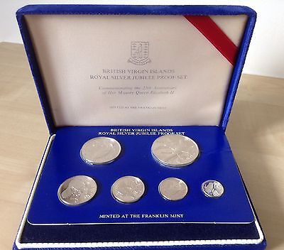 British Virgin Islands. Silver Jubilee Sterling Silver Proof Coin Set. 1977.COA