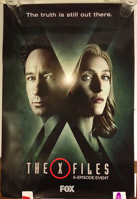The X-Files 6 Episode Event Promotional Poster 2015 Fox TV 27x40  excellent