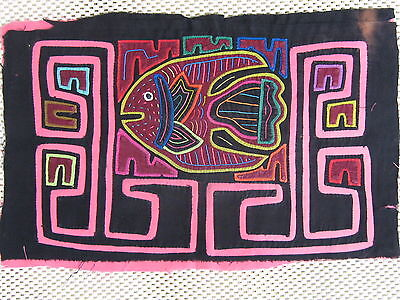 Kuna Tribe Quilt Mola Tropical Fish E.625
