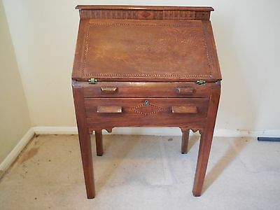 Small Writing Bureau Desk With Inlaid Decoration