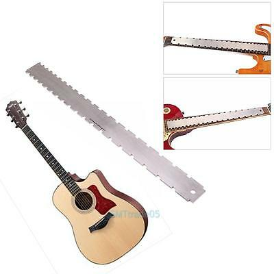 Double Scale Guitar Notched Neck Straight Edge Luthier Tool Guitar Fret Ruler