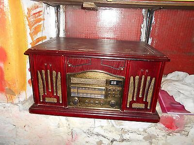 Vintage Style Music Centre; Radio, CD, Tape and Turntable