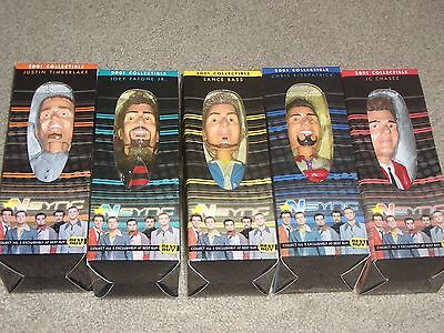 Complete Set Of All 5 Collectible Best Buy Nsync 2001 Bobbleheads - New In Boxes
