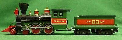 American Flyer S-Gauge 21088 Franklin 4-4-0 Western Steam Engine