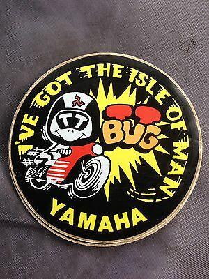 Isle Of Man TT Bug Retro Sticker Yamaha