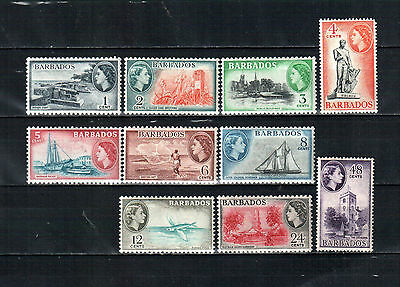 Barbados 1953, QE II, MH stamps