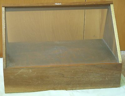 Vintage HICKOK DISPLAY CASE wood glass front Counter Top Store Fixture
