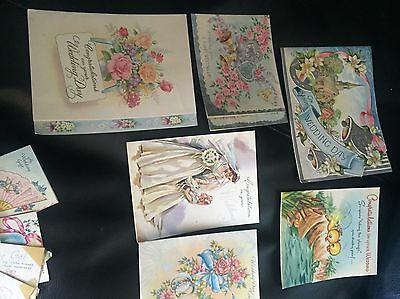 Used Vintage Wedding Cards and Gift Tags from 1955