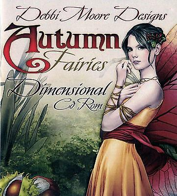Debbi Moore Crafting - Autumn Fairies Dimensional Papercrafting CD Rom