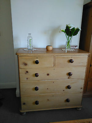 Antique pine, (Victorian) chest of drawers