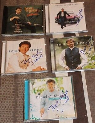 Daniel O'donnell Set Of 5 Signed Cds.